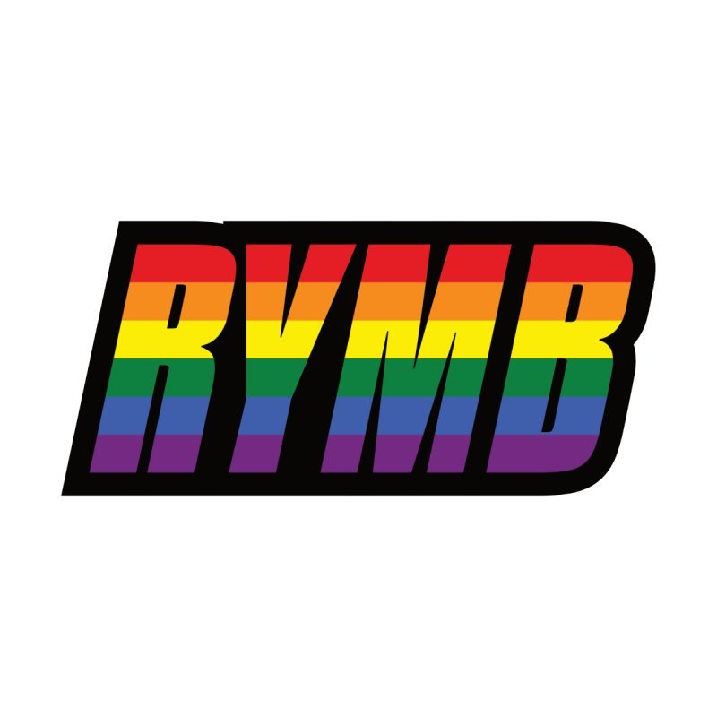 LGBTQ Flag RYMB Logo by RYMB Everyday