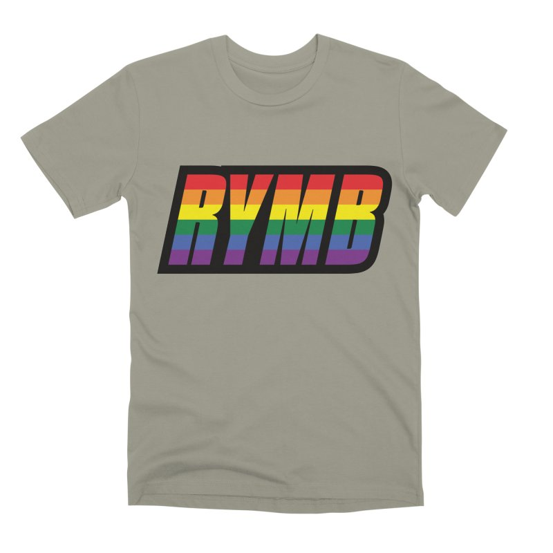 LGBTQ Flag RYMB Logo Men's Premium T-Shirt by RYMB Everyday