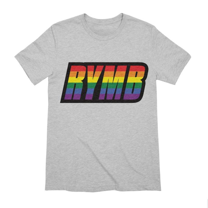 LGBTQ Flag RYMB Logo Men's Extra Soft T-Shirt by RYMB Everyday