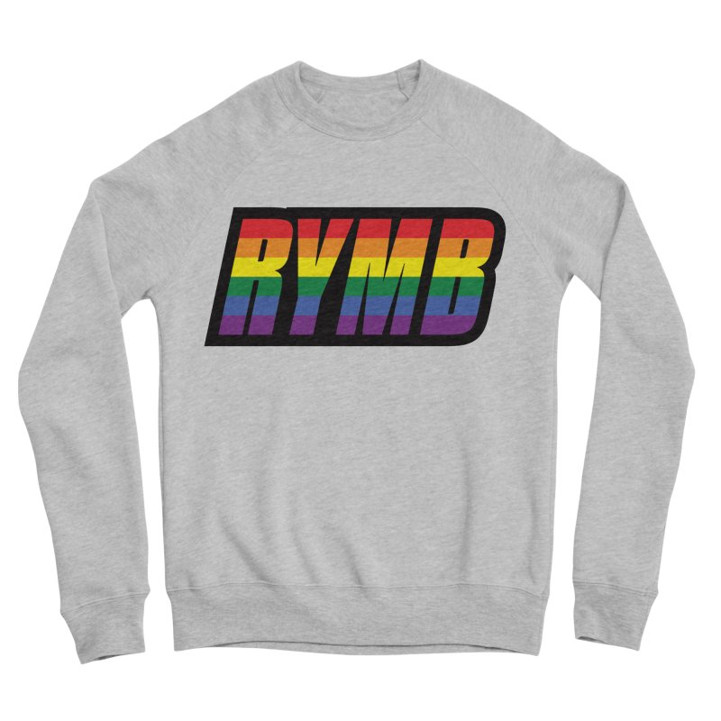 LGBTQ Flag RYMB Logo Men's Sponge Fleece Sweatshirt by RYMB Everyday