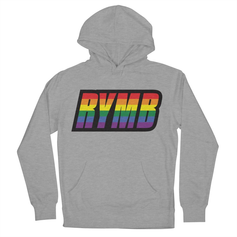 LGBTQ Flag RYMB Logo Women's French Terry Pullover Hoody by RYMB Everyday