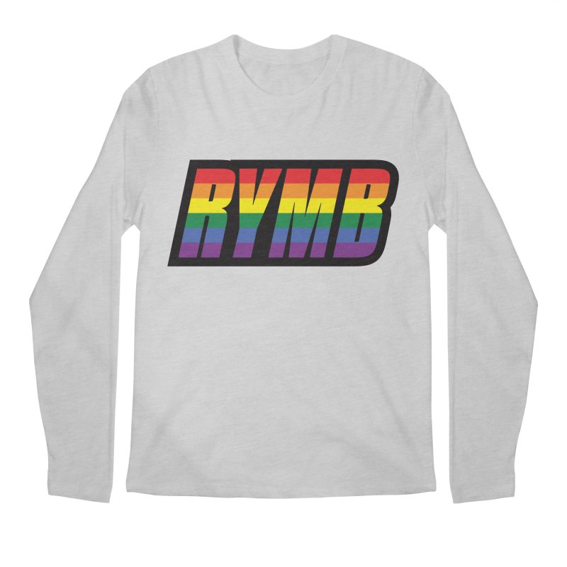 LGBTQ Flag RYMB Logo Men's Regular Longsleeve T-Shirt by RYMB Everyday