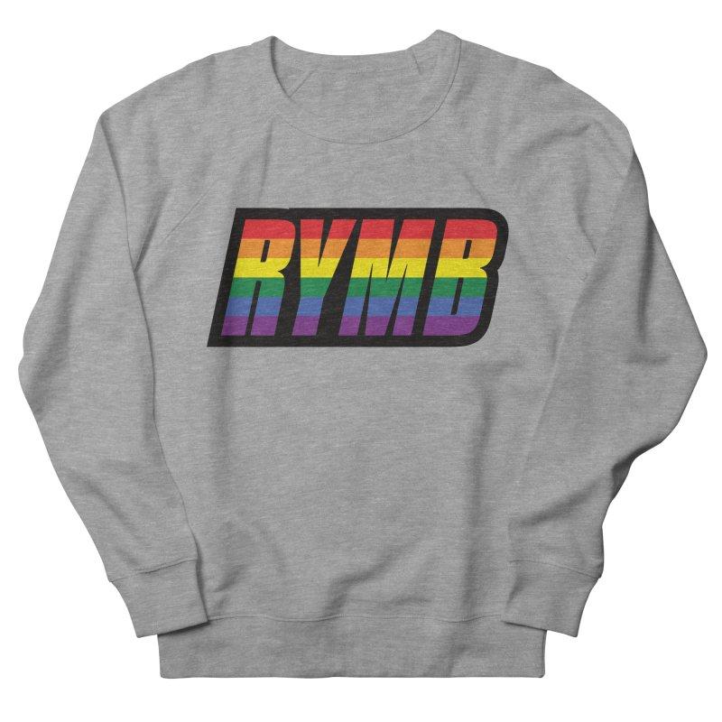 LGBTQ Flag RYMB Logo Men's French Terry Sweatshirt by RYMB Everyday
