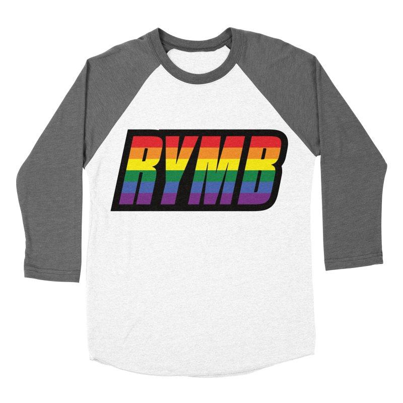 LGBTQ Flag RYMB Logo Men's Baseball Triblend Longsleeve T-Shirt by RYMB Everyday