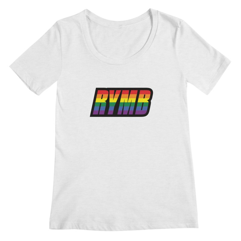 LGBTQ Flag RYMB Logo Women's Regular Scoop Neck by RYMB Everyday