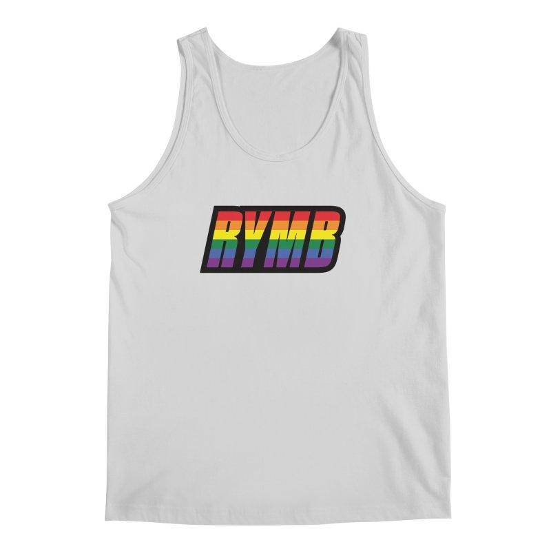LGBTQ Flag RYMB Logo Men's Regular Tank by RYMB Everyday
