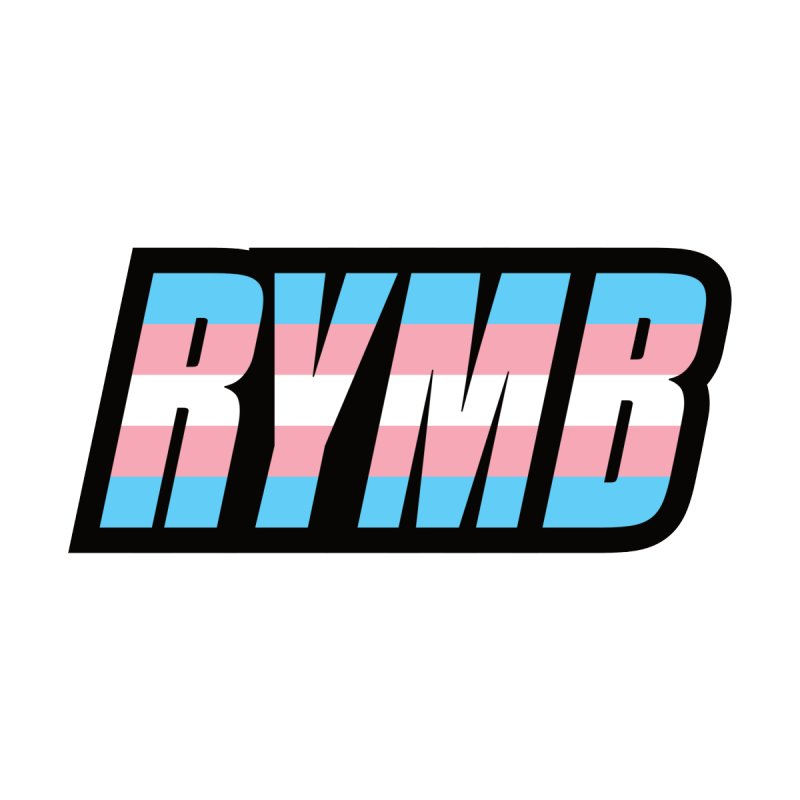 Transgender Flag RYMB Logo by RYMB Everyday