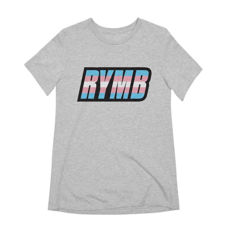Transgender Flag RYMB Logo Women's Extra Soft T-Shirt by RYMB Everyday