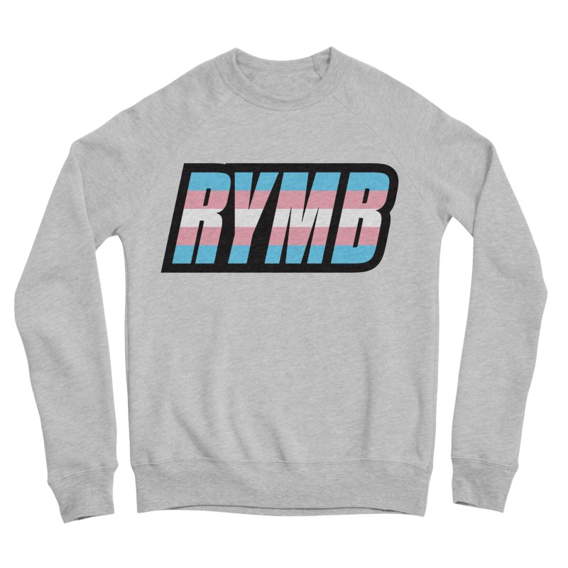 Transgender Flag RYMB Logo Men's Sponge Fleece Sweatshirt by RYMB Everyday
