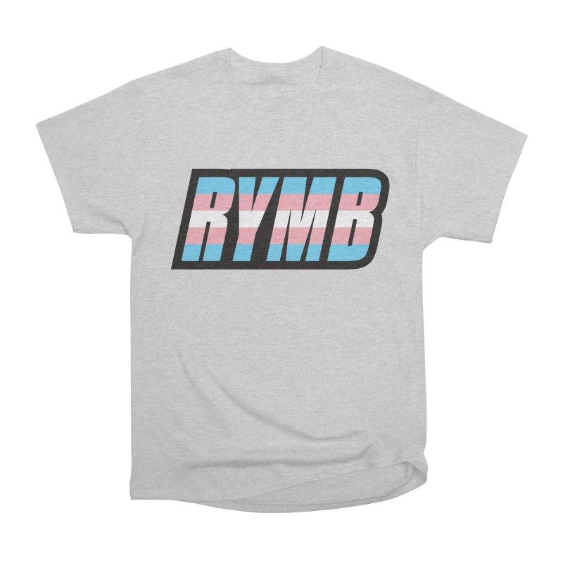 Transgender Flag RYMB Logo Men's Heavyweight T-Shirt by RYMB Everyday
