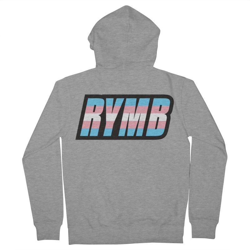 Transgender Flag RYMB Logo Men's French Terry Zip-Up Hoody by RYMB Everyday