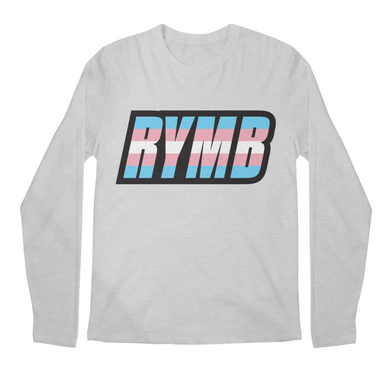 Transgender Flag RYMB Logo Men's Regular Longsleeve T-Shirt by RYMB Everyday