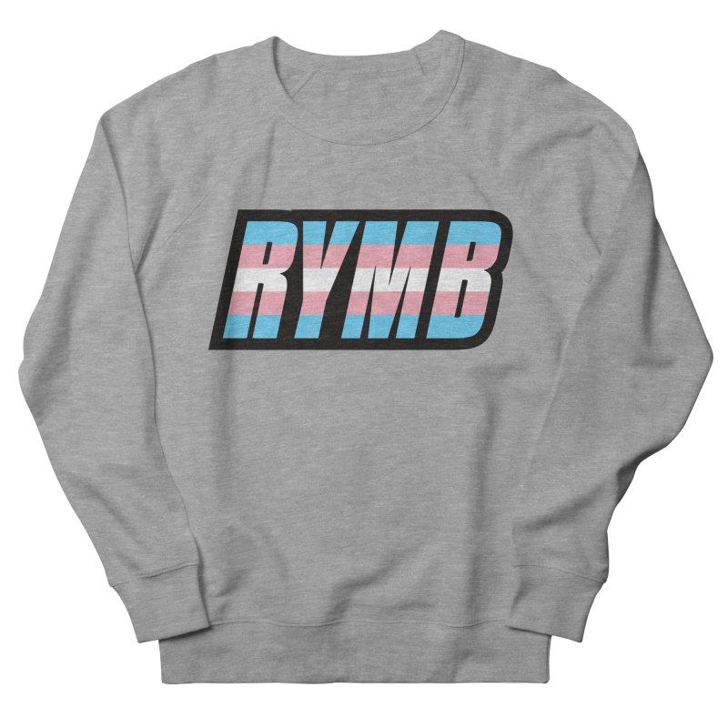 Transgender Flag RYMB Logo Men's French Terry Sweatshirt by RYMB Everyday
