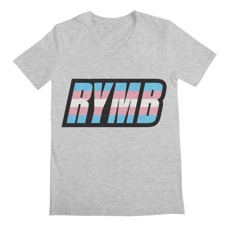 Transgender Flag RYMB Logo Men's Regular V-Neck by RYMB Everyday