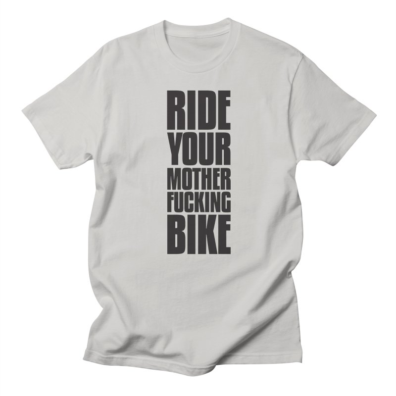 Ride Your Motherfucking Bike Vertical Word Tower of Power Men's T-Shirt by RYMB Everyday