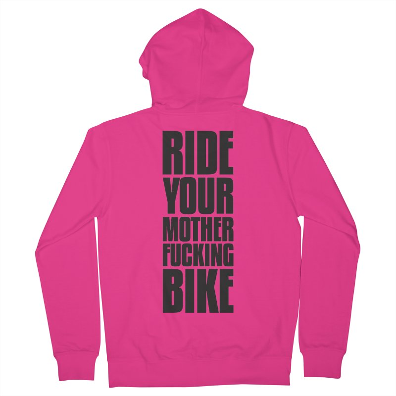 Ride Your Motherfucking Bike Vertical Word Tower of Power Men's French Terry Zip-Up Hoody by RYMB Everyday