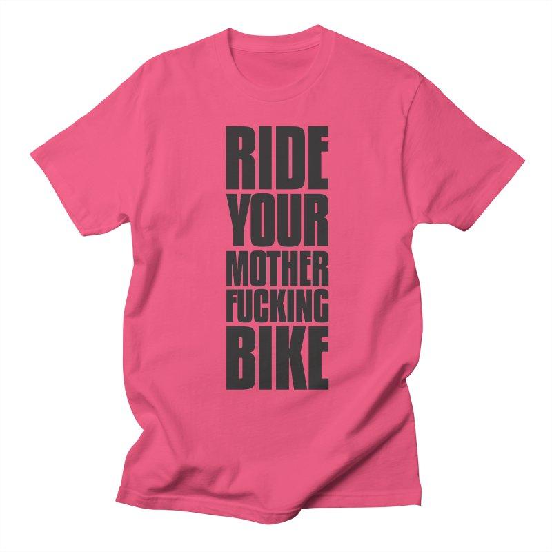 Ride Your Motherfucking Bike Vertical Word Tower of Power Women's Regular Unisex T-Shirt by RYMB Everyday