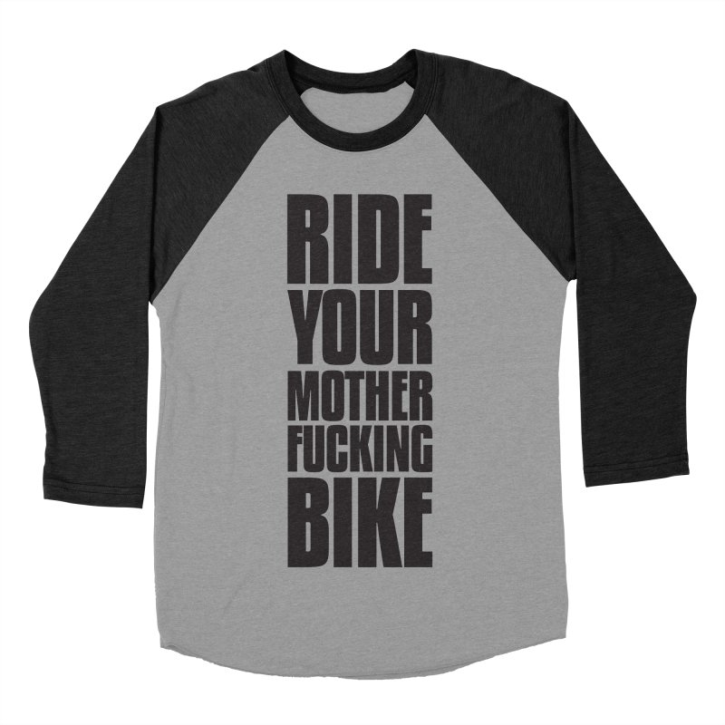 Ride Your Motherfucking Bike Vertical Word Tower of Power Men's Baseball Triblend Longsleeve T-Shirt by RYMB Everyday