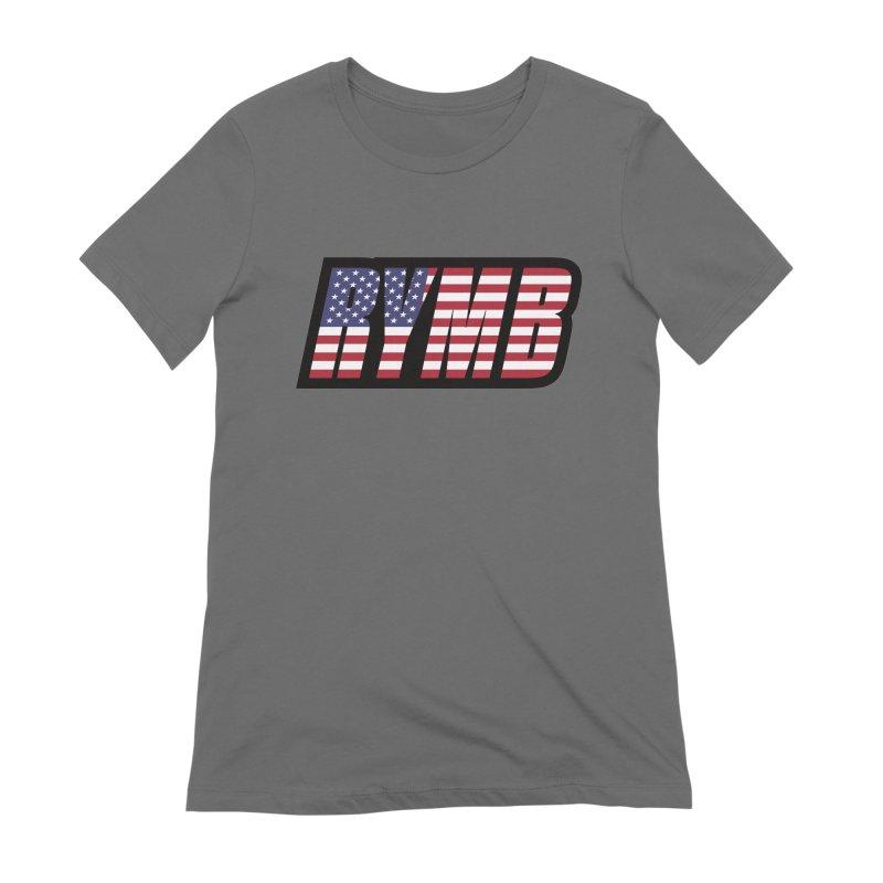 USA Flag RYMB Logo Women's Extra Soft T-Shirt by RYMB Everyday