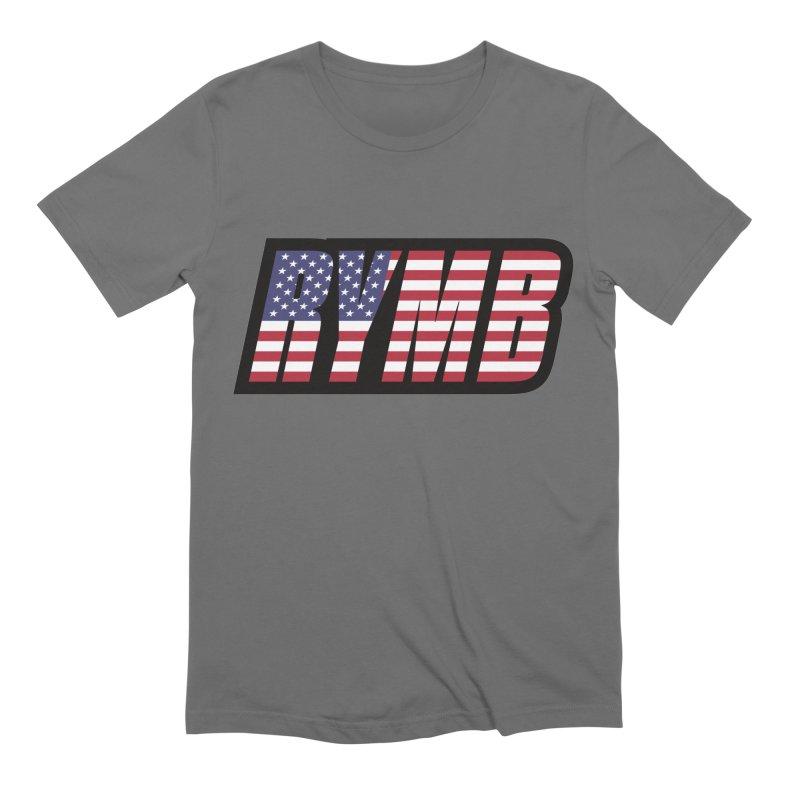 USA Flag RYMB Logo Men's Extra Soft T-Shirt by RYMB Everyday