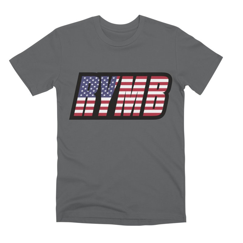 USA Flag RYMB Logo Men's Premium T-Shirt by RYMB Everyday