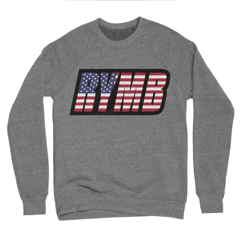 USA Flag RYMB Logo Men's Sponge Fleece Sweatshirt by RYMB Everyday