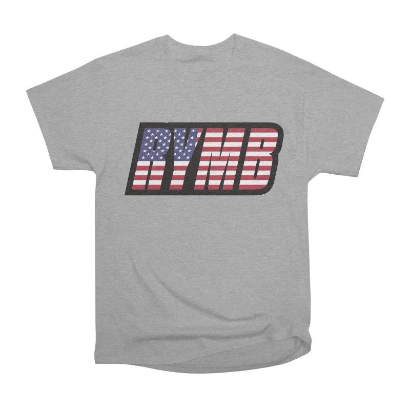 USA Flag RYMB Logo Women's Heavyweight Unisex T-Shirt by RYMB Everyday