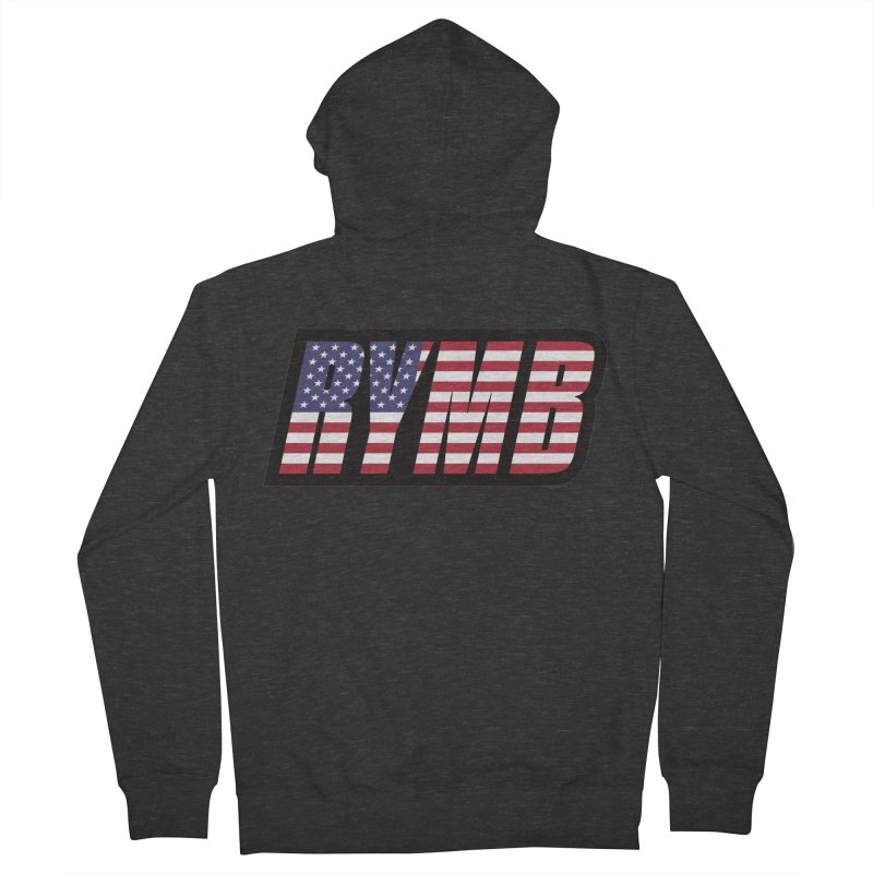 USA Flag RYMB Logo Men's French Terry Zip-Up Hoody by RYMB Everyday