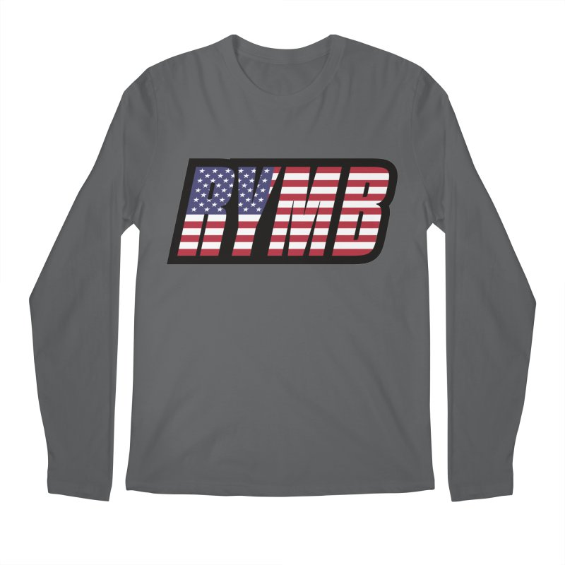USA Flag RYMB Logo Men's Regular Longsleeve T-Shirt by RYMB Everyday