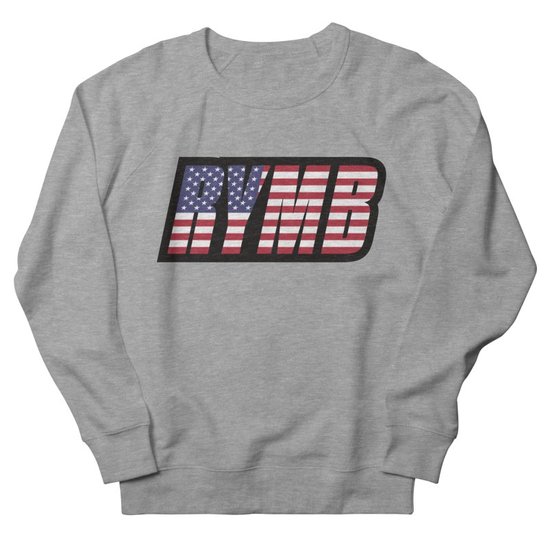 USA Flag RYMB Logo Men's French Terry Sweatshirt by RYMB Everyday