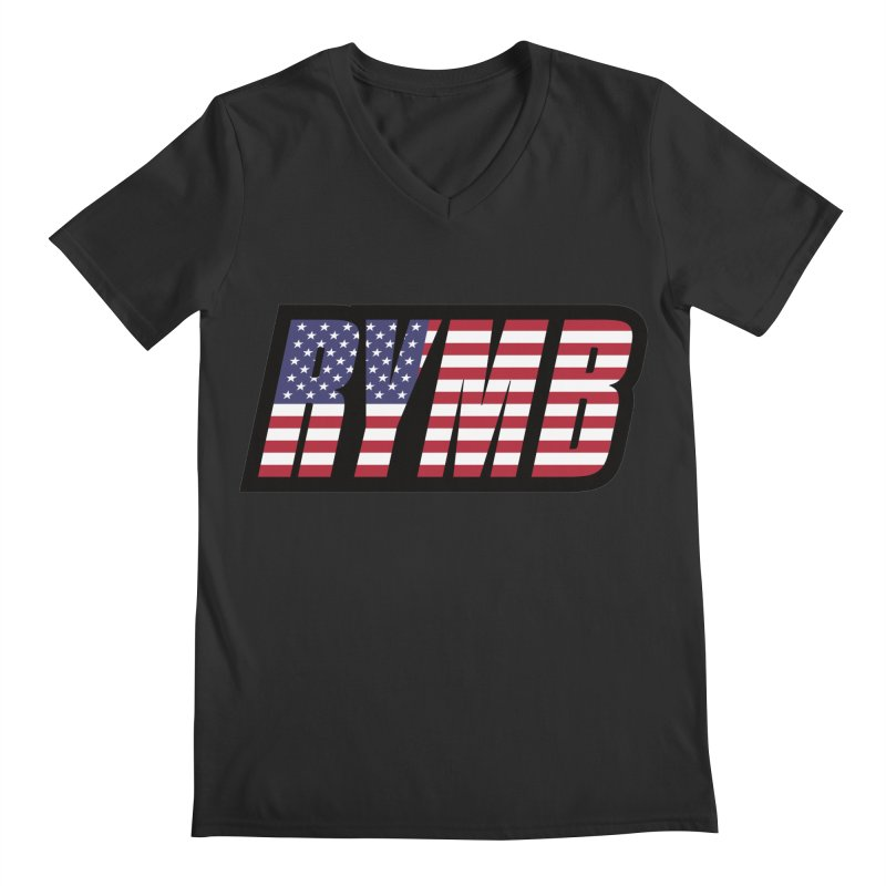 USA Flag RYMB Logo Men's Regular V-Neck by RYMB Everyday
