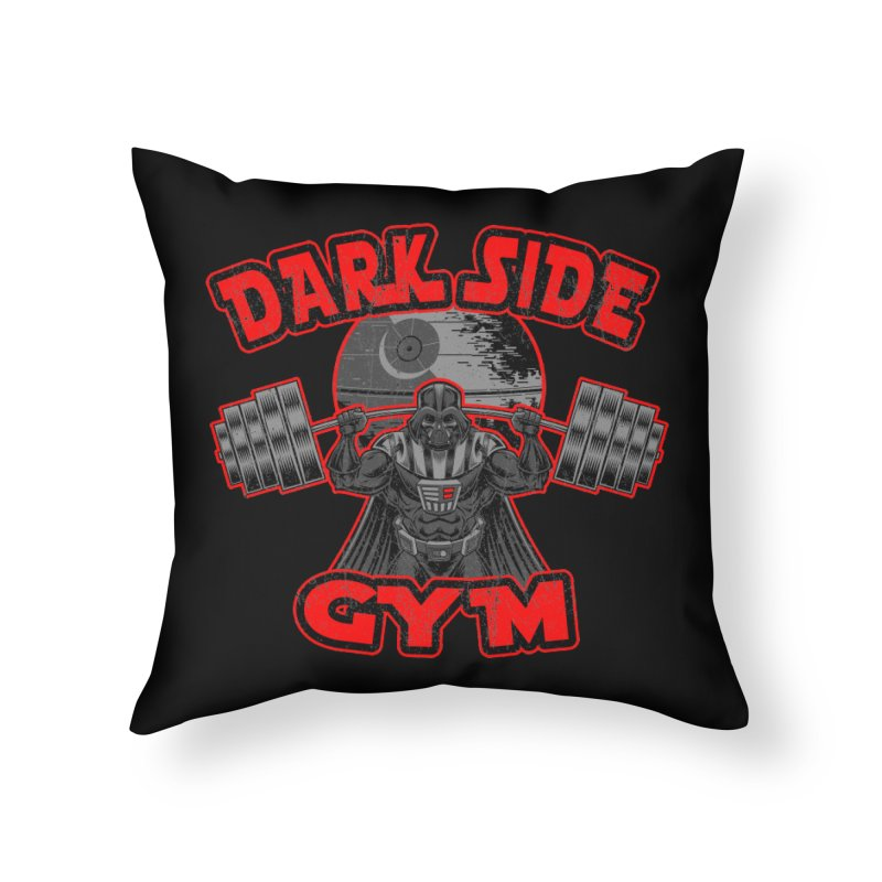 Dark Side Gym Home Throw Pillow by Rynoarts's Shop