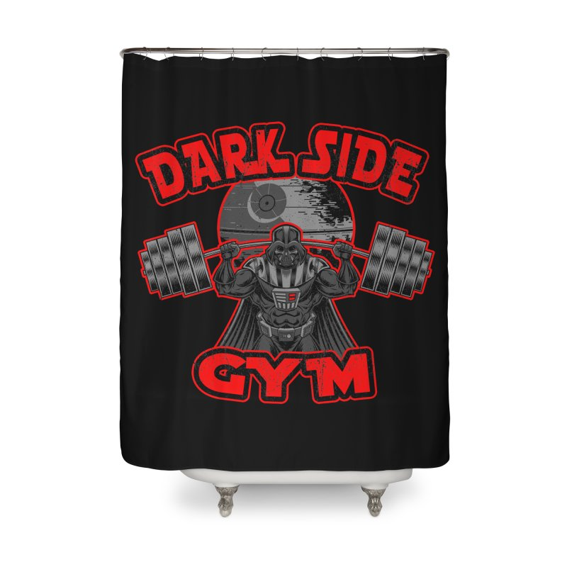Dark Side Gym Home Shower Curtain by Rynoarts's Shop
