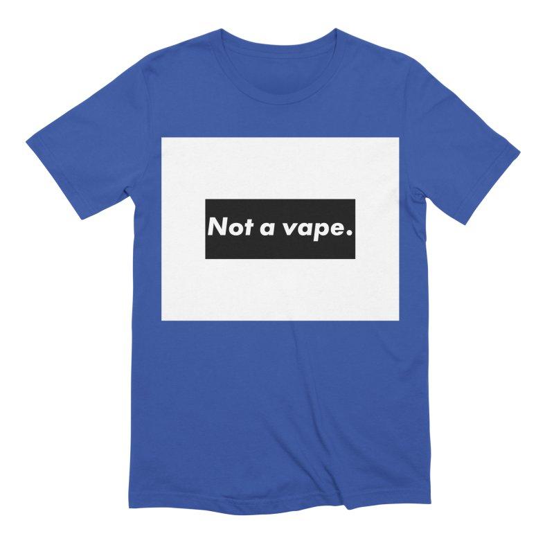 Not a Vape Men's Extra Soft T-Shirt by saberdog's Artist Shop