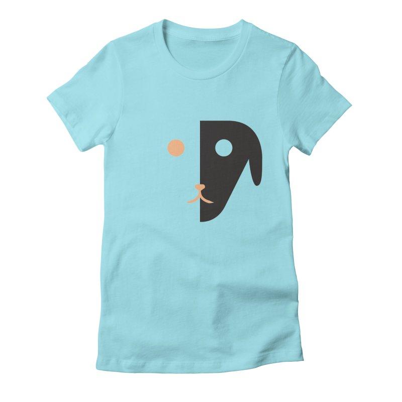Saberdog Women's Fitted T-Shirt by saberdog's Artist Shop