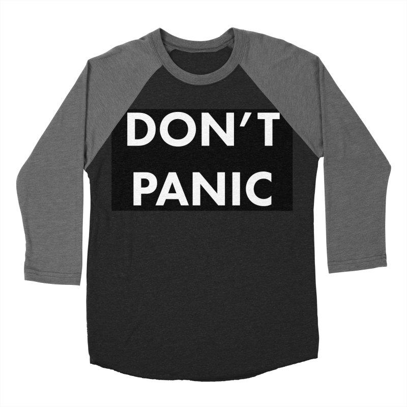 Don't Panic, Written in Large Friendly Letters Men's Baseball Triblend Longsleeve T-Shirt by saberdog's Artist Shop