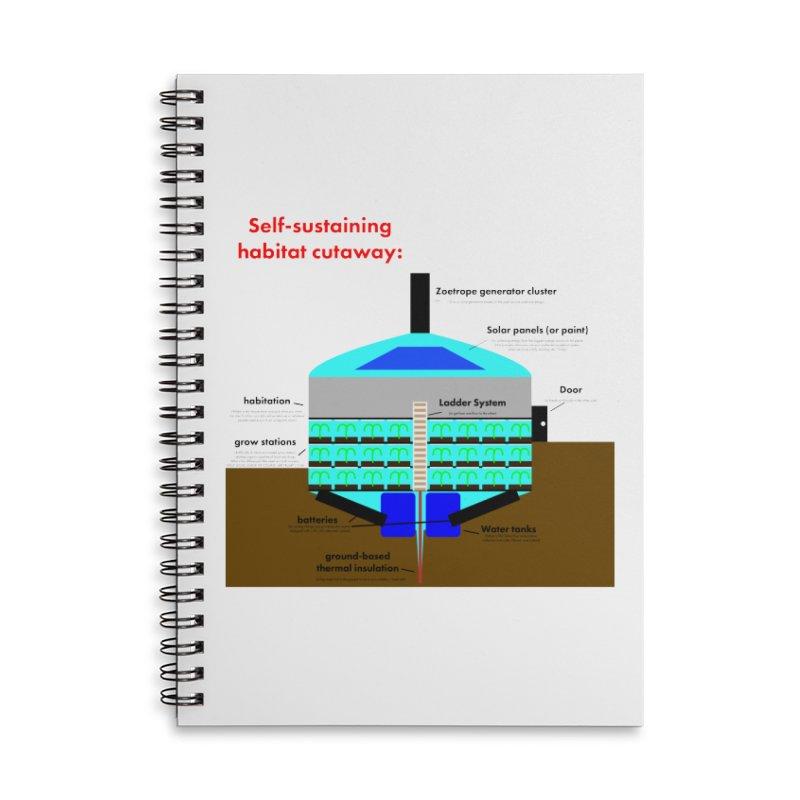 Self-Sustaining Habitat mk2 Accessories Lined Spiral Notebook by saberdog's Artist Shop
