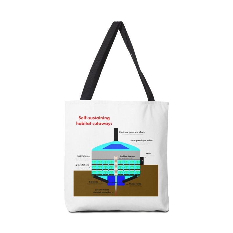 Self-Sustaining Habitat mk2 Accessories Tote Bag Bag by saberdog's Artist Shop