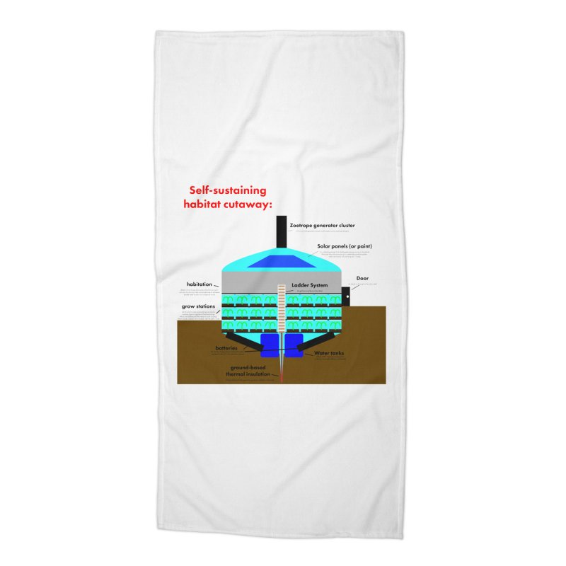 Self-Sustaining Habitat mk2 Accessories Beach Towel by saberdog's Artist Shop