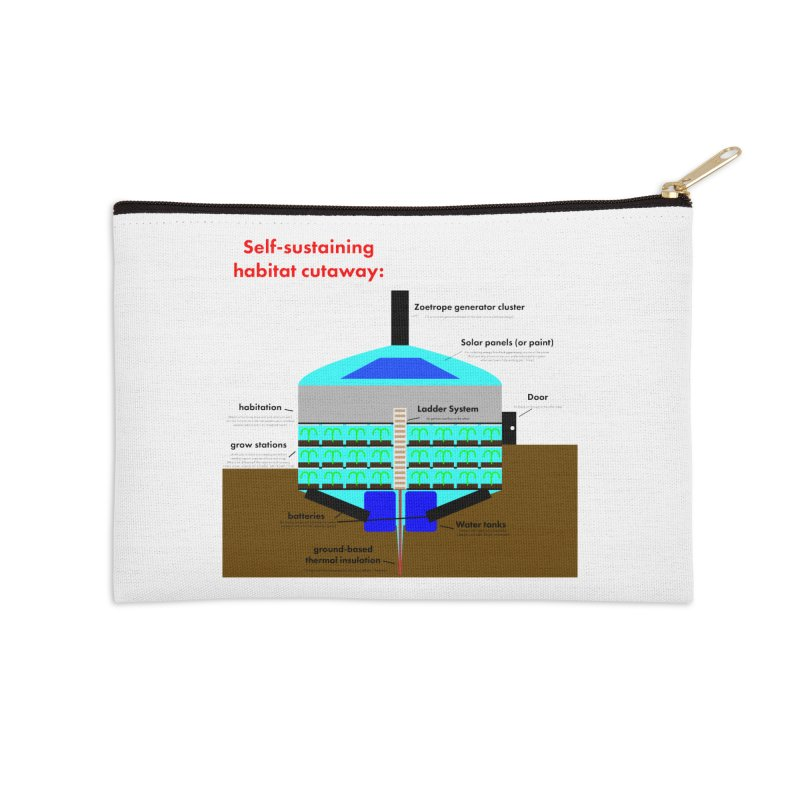 Self-Sustaining Habitat mk2 Accessories Zip Pouch by saberdog's Artist Shop