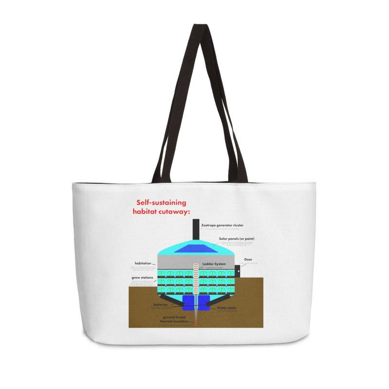 Self-Sustaining Habitat mk2 Accessories Weekender Bag Bag by saberdog's Artist Shop