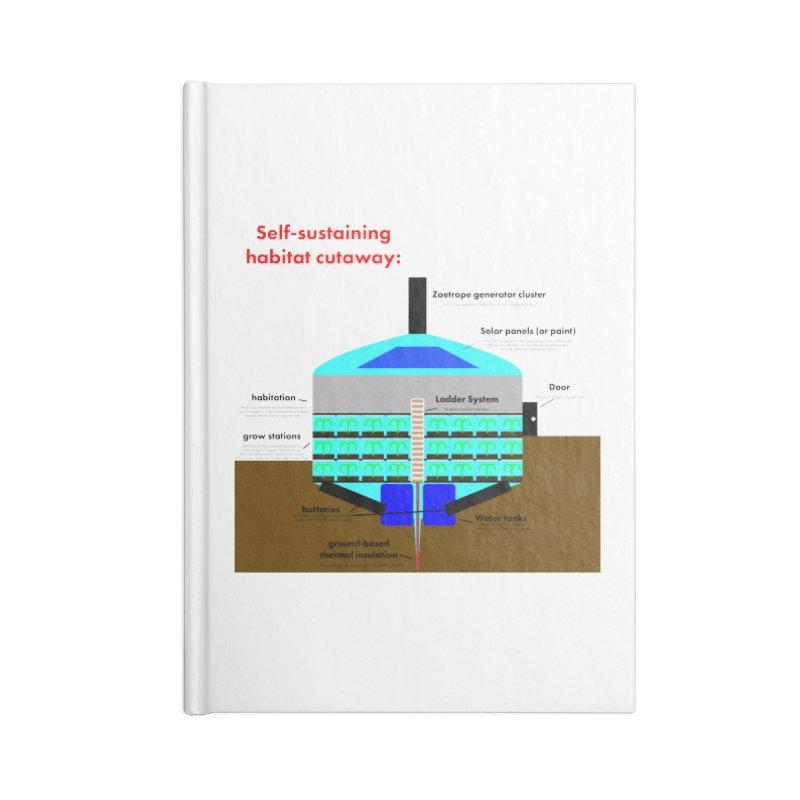 Self-Sustaining Habitat mk2 Accessories Blank Journal Notebook by saberdog's Artist Shop
