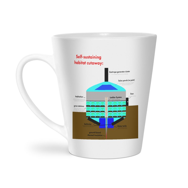 Self-Sustaining Habitat mk2 Accessories Latte Mug by saberdog's Artist Shop