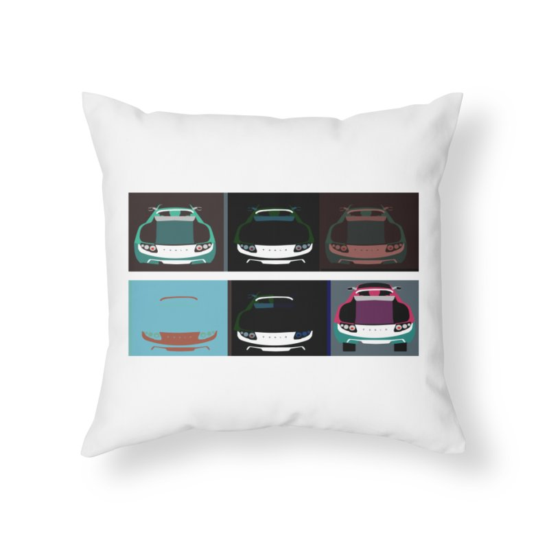 Warhol Style Teslas Home Throw Pillow by saberdog's Artist Shop