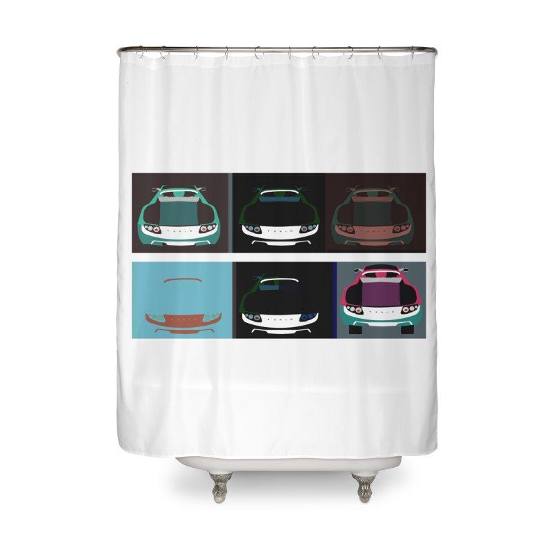Warhol Style Teslas Home Shower Curtain by saberdog's Artist Shop