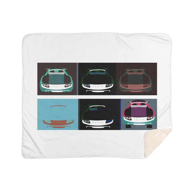 Warhol Style Teslas Home Sherpa Blanket Blanket by saberdog's Artist Shop