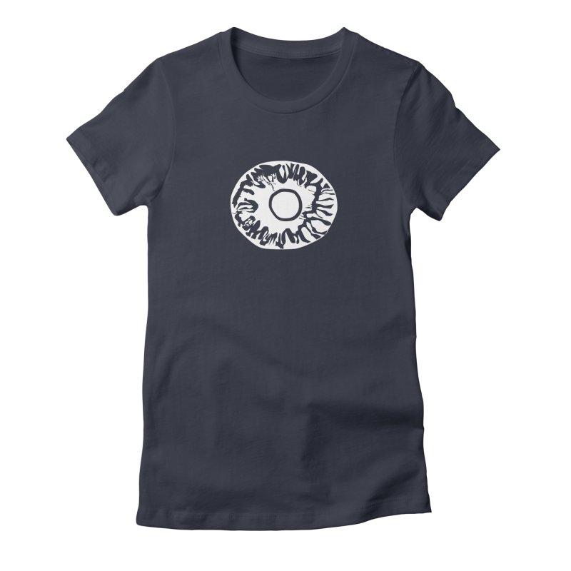 Eyez Whit Women's Fitted T-Shirt by saberdog's Artist Shop