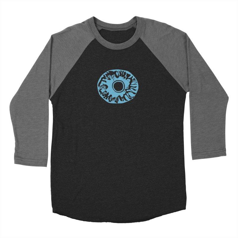 Eyez LitBlu Men's Baseball Triblend Longsleeve T-Shirt by saberdog's Artist Shop
