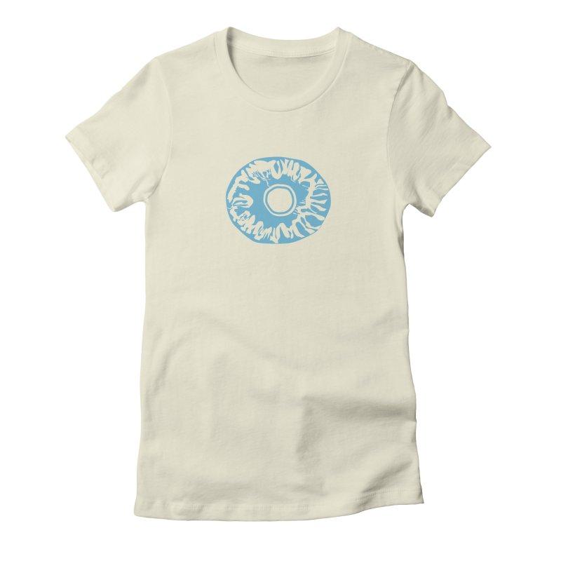 Eyez LitBlu Women's Fitted T-Shirt by saberdog's Artist Shop