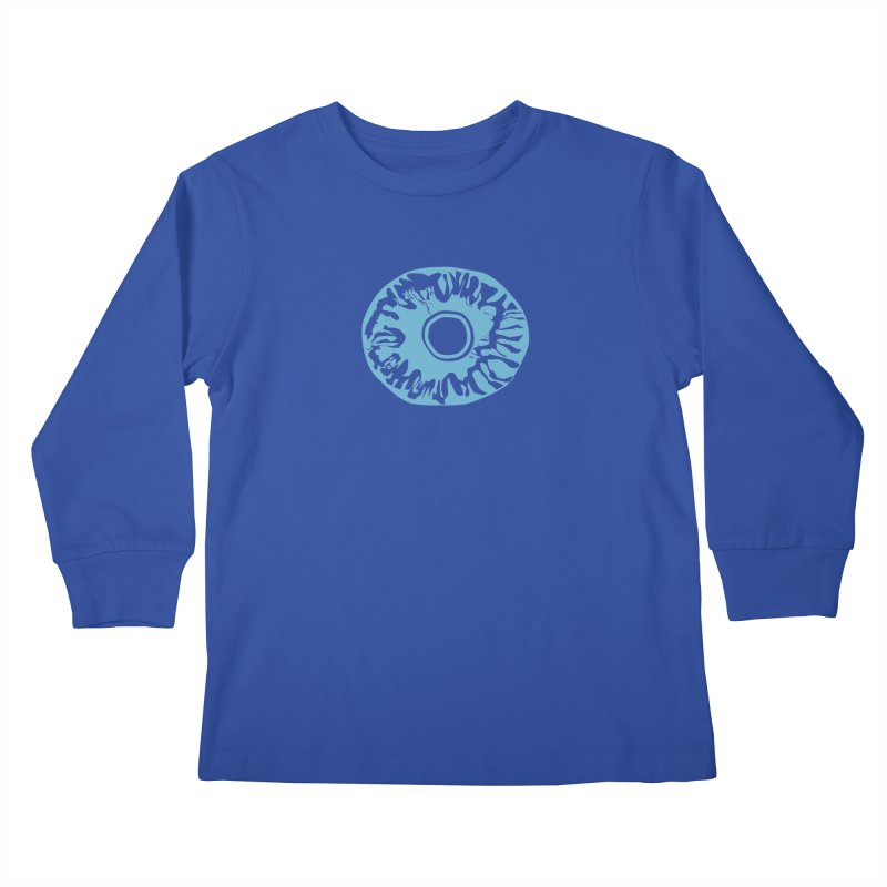 Eyez LitBlu Kids Longsleeve T-Shirt by saberdog's Artist Shop